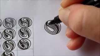 How to draw tanglepattern Cruffle