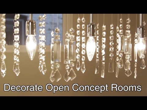 Decorate An Open Concept Room