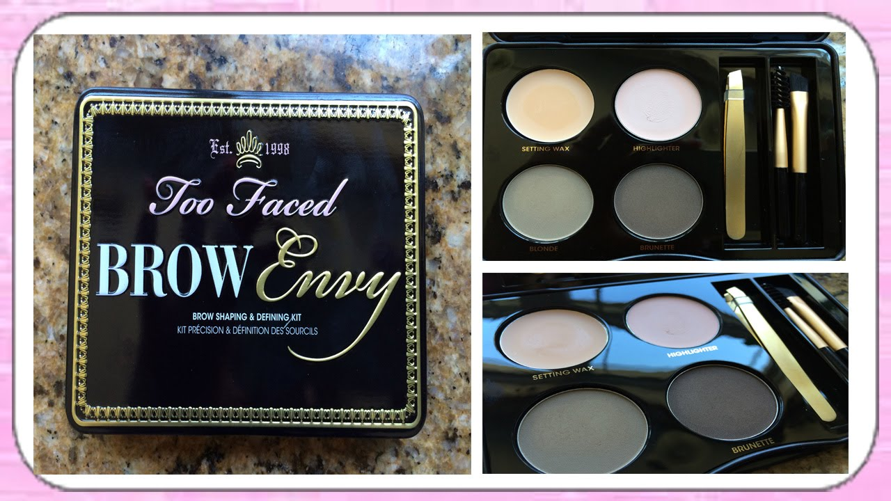 Reviewdemofirst Impression Two Faced Brow Envy Palette Youtube
