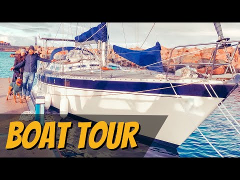 E4: We Bought A Blue Water Sailing Boat!! - (Boat Tour) להורדה