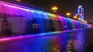 Очень красивый фонтан в Дубае