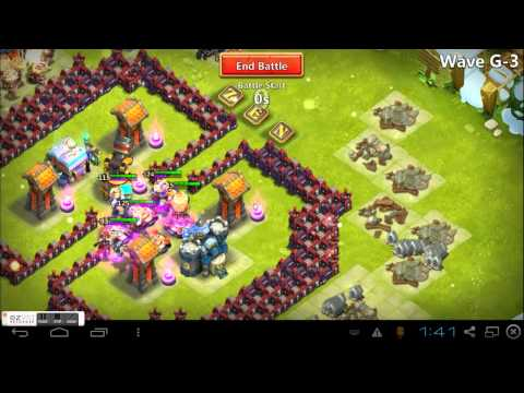 VIDEO: castle clash Wave D and E hbm defence, making shard farming