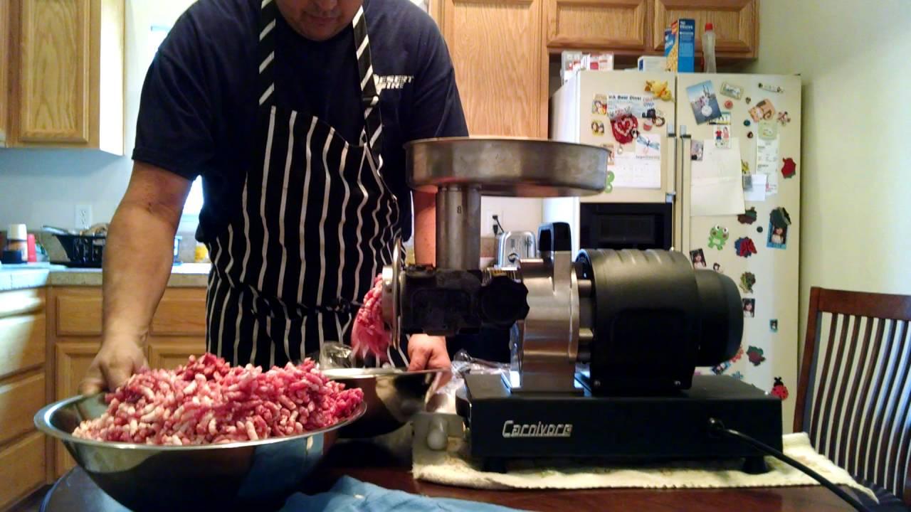 Cabela's .5 hp carnivore grinder - YouTube