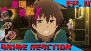 OPEN MOUTH, INSERT FOOT | Anime Reaction: KonoSuba 2 Ep. 11 (OVA)