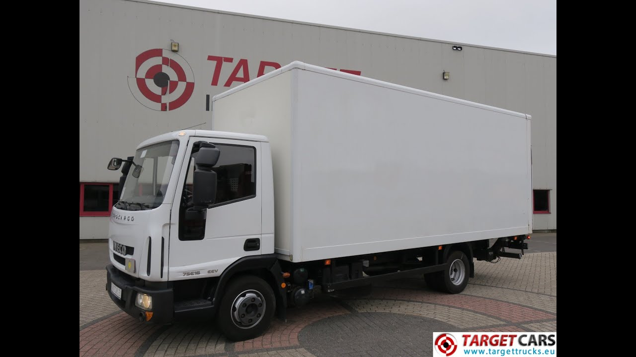740361 IVECO EUROCARGO 75E16 CLOSED BOX LORRY EURO5 EEV 160HP W/LIFT 09-12  91207KM LHD