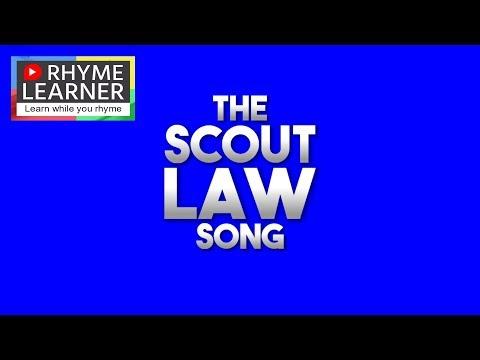 The Scout Law Song - Learn quickly using animated memory and music mnemonics