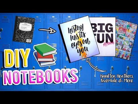 DIY Notebooks | Hamilton, Heathers, Riverdale & More | Jessica Victoria