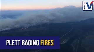 WATCH: Aerial footage shows raging fires in Plettenberg Bay