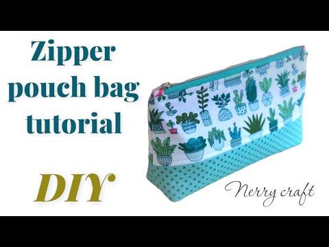 Hướng dẫn tự may ví đựng đồ trang điểm – DIY  How to sew a purse with zipper
