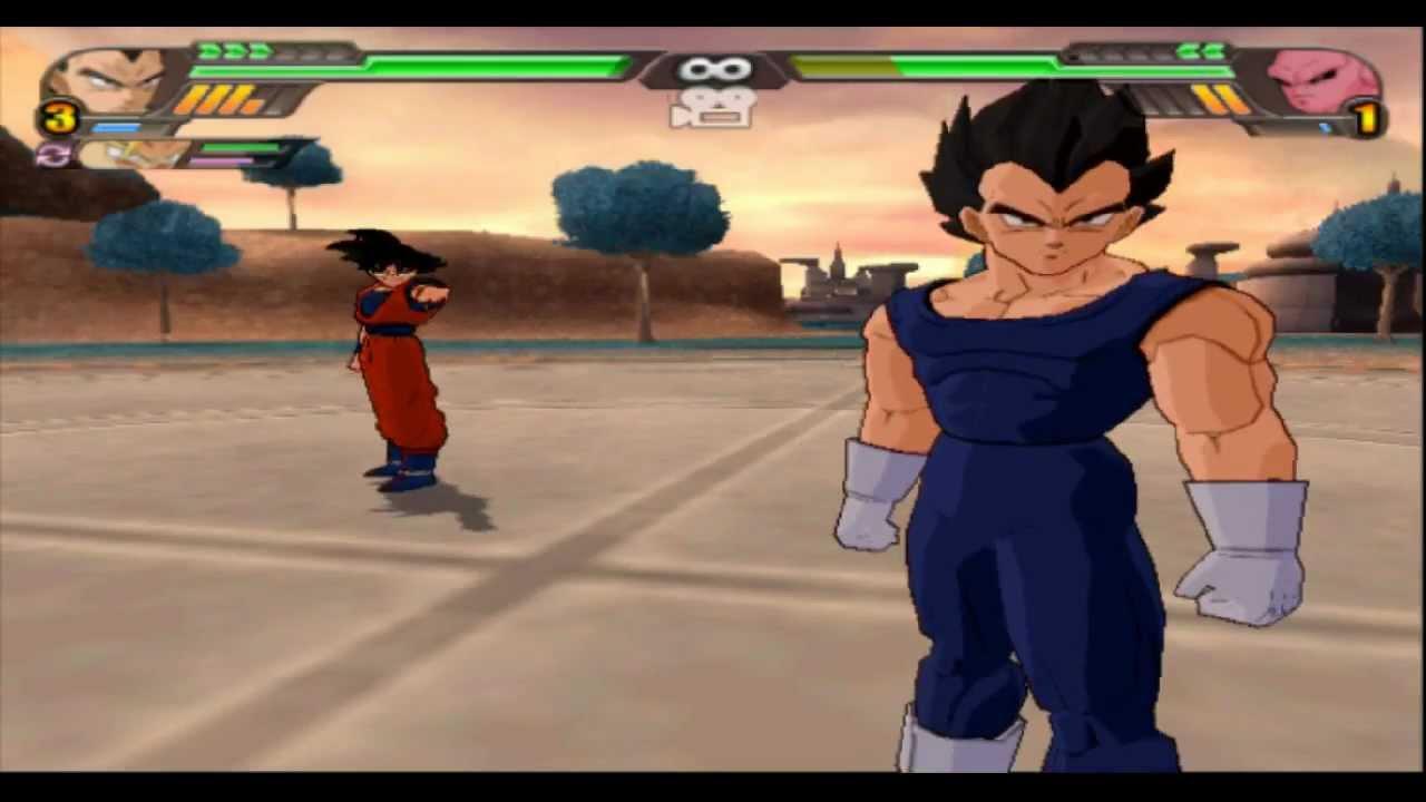 Omega Shenron Vs Kid Buu DBZ BT3 ~ The Z Fighte...