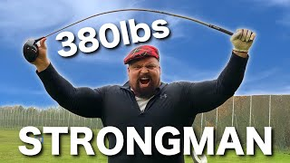 How far can the WORLD'S STRONGEST MAN hit a golf ball? EDDIE HALL