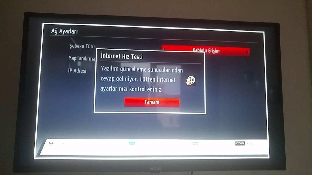 Vestel Televizyonda Ağ Ayarları Tanıtımı 3.6.2H