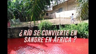 The reason why a river turned into blood in Africa 2018