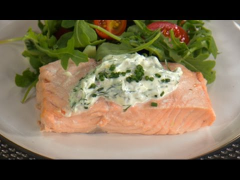 Poached Salmon with Dijon Dill Sauce