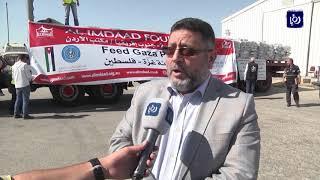 الهيئة الخيرية الهاشمية تسير قافلة مساعدات غذائية الى غزة - (13-8-2017)