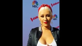 Christina Aguilera - Red Carpet Interview (The Voice Karaoke for Charity - 21/Apr/16)