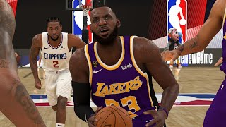 NBA 2K20 Mod - NEW NBA Bubble Court / Arena with No Crowd ft. Lakers vs Clippers (NBA 2K20 Gameplay)