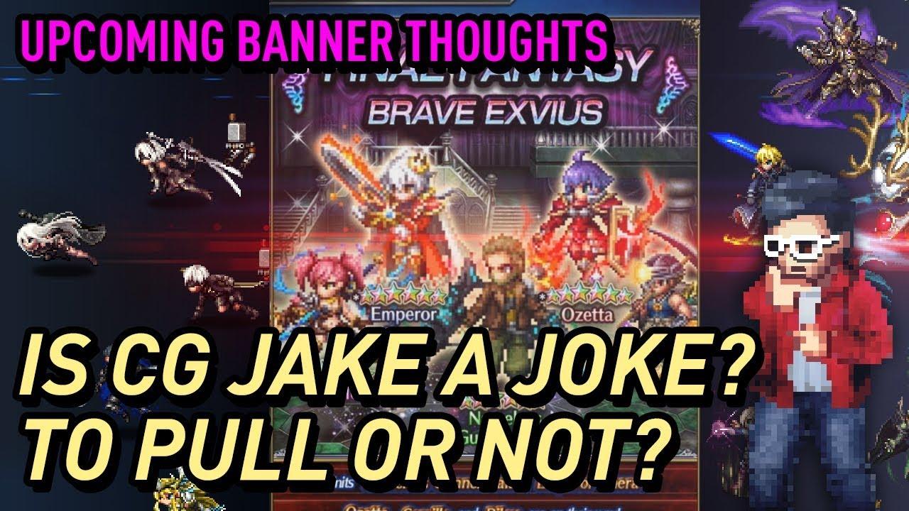 Ffbe Nameless Gunner Jake Cg Jake Banner Event Thoughts Youtube
