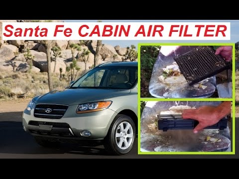 How To Replace Cabin Air Filter On A Hyundai Santa Fe 2006 2012