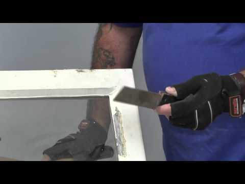 how-to-remove-a-pane-of-glass-by-chopping-putty-from-window-frames