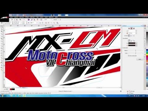Motocross Graphic Design With CorelDRAW #1