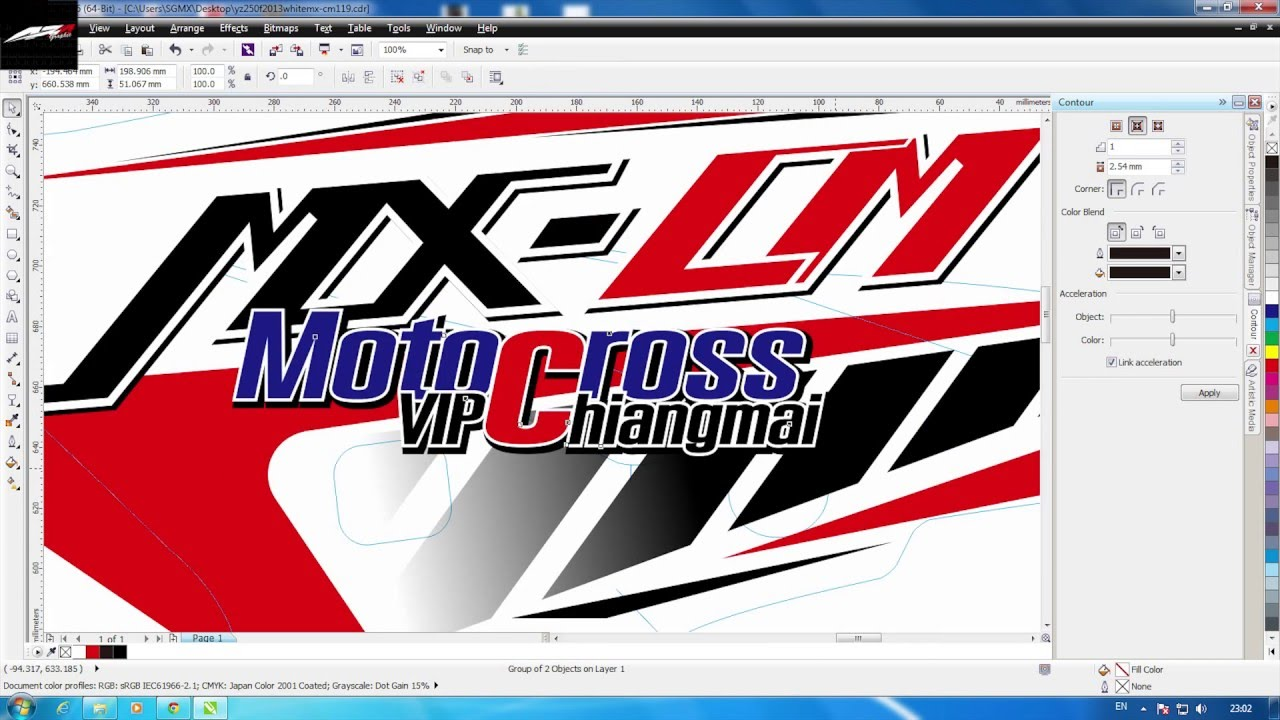 motocross graphic design with coreldraw 1 youtube