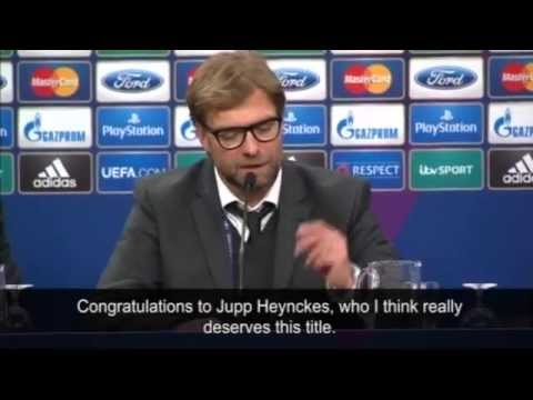Jürgen Klopp congratulates Champions League winners Bayern Munich Mp3