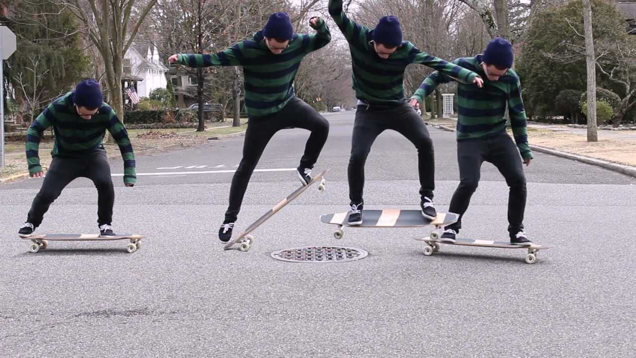 Longboarding  Ollie Sequence