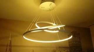 Светодиодная люстра с пультом(Освещение светодиодами. http://ginto.ru/, 2015-10-02T09:02:20.000Z)