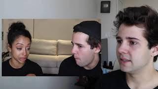 david dobrik and liza koshy break up video but it's david reacting to it