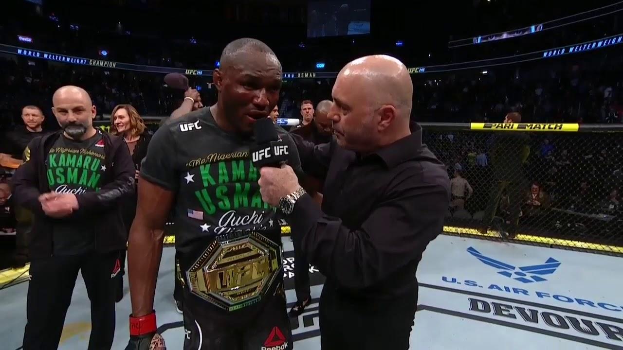UFC 245: Kamaru Usman Octagon Interview