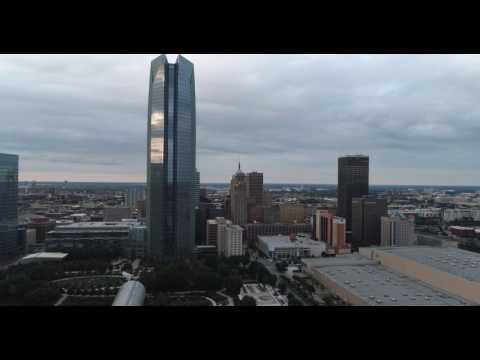 Downtown Oklahoma City Drone View Devon TOWER