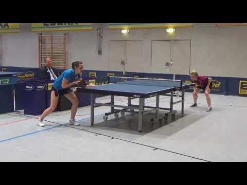 Maier Schwabhausen vs Lisa Saur Bayer  M  20180120 Table Tennis Buxheim Zoom