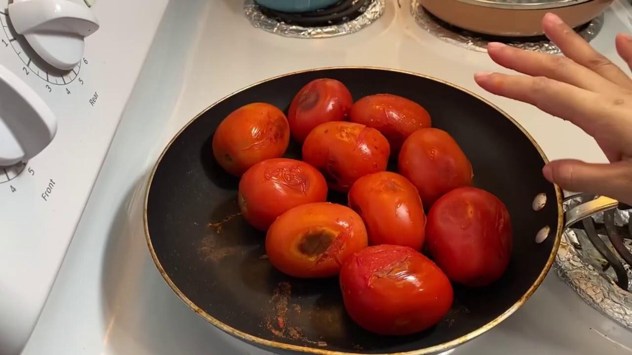 Salsa de tomate para las pupusas fácil y delicioso❗️