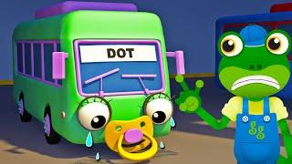 Baby Bus Song (5 Little Monkeys)  Nursery Rhymes  Gecko39;s Garage  Truck Songs For Children