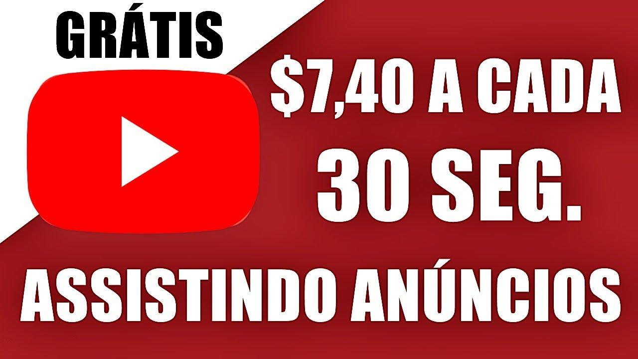 Ganhe $7,40 a cada 30 segundos ASSISTINDO ANÚNCIOS (Ganhar dinheiro online)