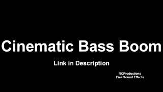 Cinematic Bass Boom  Free Sound Effects HD