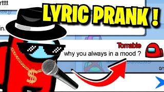 Among Us but i use SONG LYRICS to CHAT !!! ( I WON 🏆)