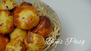 Byns Pasg Cegin Saffwrn - Rhan 1 | Hot Cross Buns - part 1