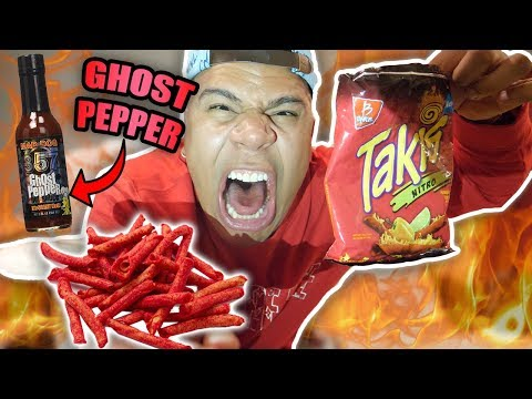 GHOST PEPPER TAKI CHALLENGE (WORLD'S HOTTEST EXTREME PAIN)