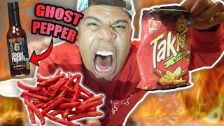 ghost pepper taki challenge world s hottest extreme pain