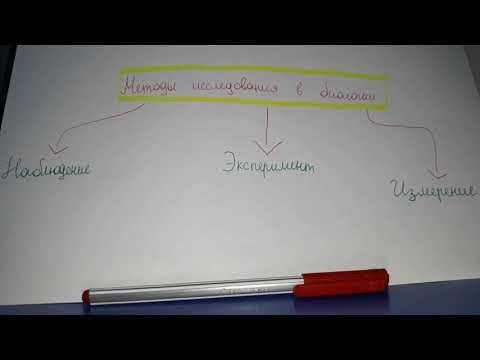Биология|Методы исследования в биологии