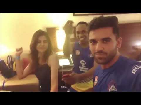 Dj bravo dancing with CSK's fast bowler deepak chahar and his sister