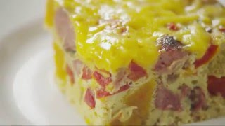 The Ultimate Make-ahead Breakfast: Chicken Sausage Breakfast Casserole