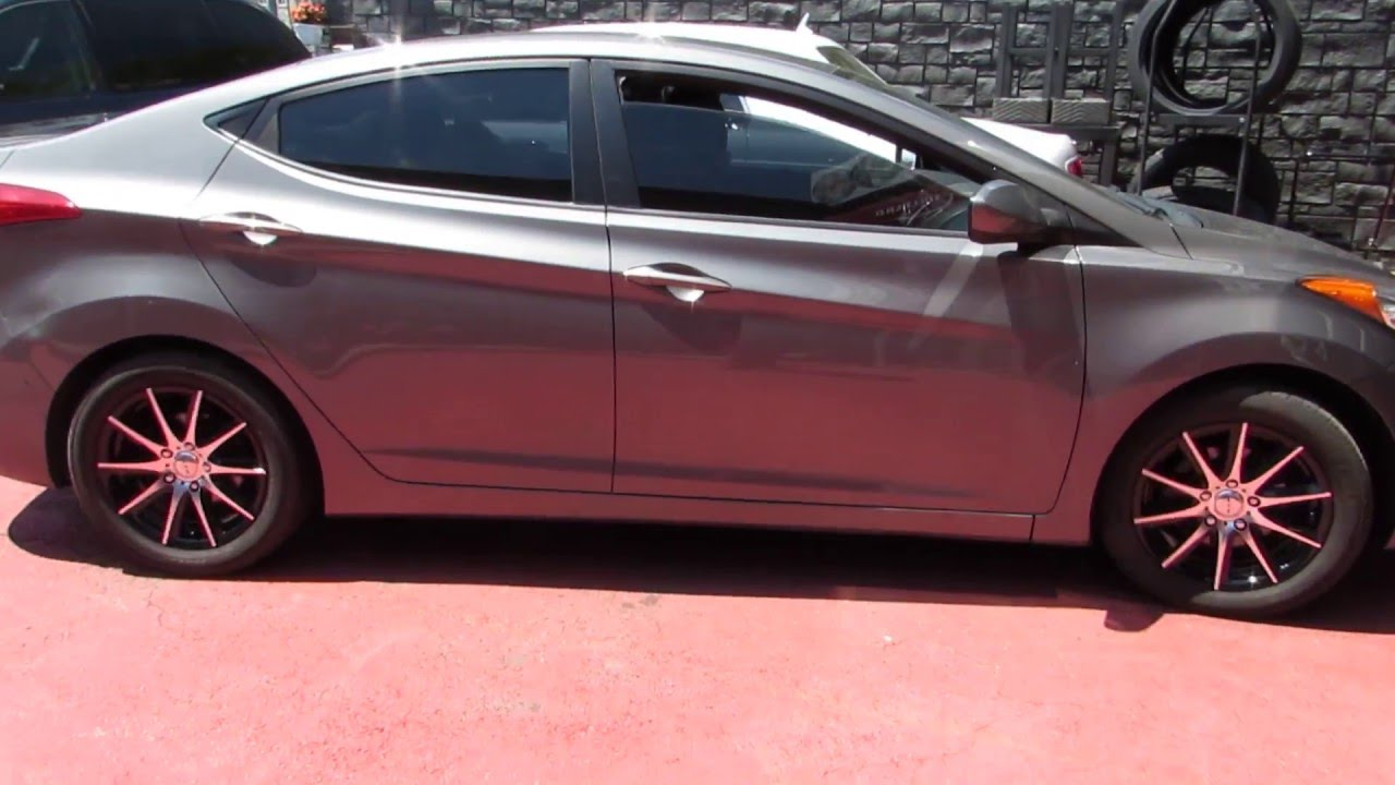2010 Hyundai Elantra Riding On Custom 16 Quot Black Amp Machined