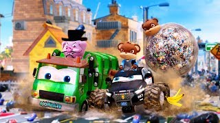 #appMink | Garbage Truck Police Car Kids Video - Cartoon Cars Chase #a | Kids Cartoons Full Episodes