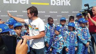 Fernando Alonso en Llanera.