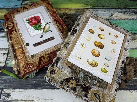 Fabric Covered Nature Journals - Ephemera's Vintage Garden