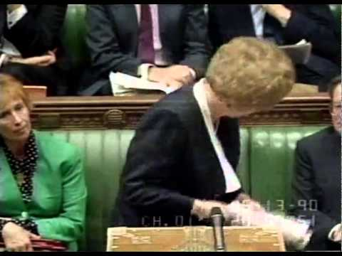 Jeremy Corbyn takes on Maggie Thatcher - Great comeback by Thatcher