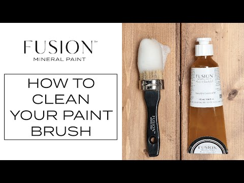 How to Clean Your Paint Brushes | Fusion™ Mineral Paint